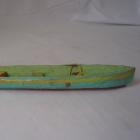 Caribbean: Wood gourds fishing canoe