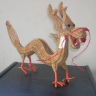 Hong Kong: Toy dragon made from wicker