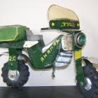 West Africa: Motorbike made from scrap metal
