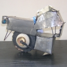 West Africa: Toy motorbike made from tin