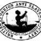 The stamp of the British & Foreign Anti-Slavery Society, depicting the image of a kneeling slave, his hands bound with chains, above the motto: 'Am I not a Man and a Brother'. England, circa 1840 (Copyright, ASI)