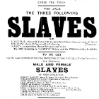 Poster advertising the public auction of 14 slaves. United States of America, circa 1829 (Copyright, ASI)